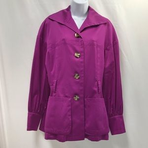 ESCADA Button Up Pea Coat Jacket Lightweight 38